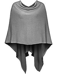Cashmere Dreams Poncho-Schal aus Baumwolle - Hochwertiges Cape für Damen - XXL Umhängetuch und Tunika - Strick-Pullover - Sweatshirt - Stola für Sommer und Winter Zwillingsherz