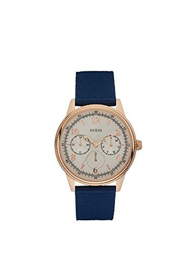 Guess Watches Men's Guess Men's Blue-Rose Gold-Beige Watch