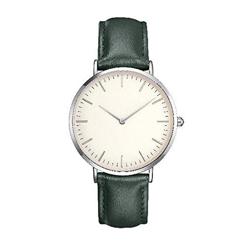 Frauen Männer Casual Einfache Quarz Analog Uhrenarmband Armbanduhren, Klassisch PU Lederband/Legierung Uhrenarmband Armbanduhren für Männer Frauen