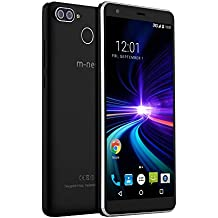 m-net Pure S 5.5'' HD 18:9 Pantalla Completa Cámara Trasera Doble Fingerprint Sensor ROM 16GB RAM 2GB MTK6580A Dual SIM Dual Standby Android 7.0 3000mAh 3g Smartphone y Moviles libres baratos -Negro