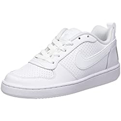 Nike Court Borough Low GS, Zapatillas de Baloncesto Unisex Niños, Blanco (White/White-White), 37.5 EU