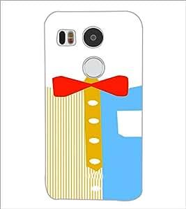 PrintDhaba Ribbon Design D-4839 Back Case Cover for LG NEXUS 5X (Multi-Coloured)