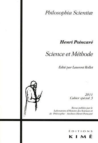 Philosophia Scientiae, Cahier spécial 3/201 : Science et Méthode, Henri Poincaré