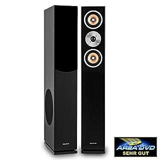 auna Linie 501 FS-BK Passive Tower Floor Speaker • Pair • 280W • 3-Way • 20 cm (8