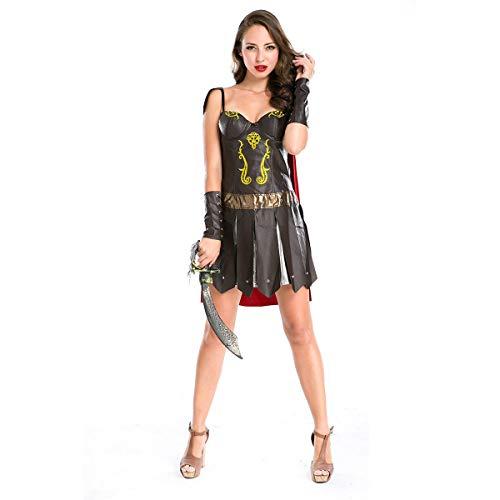stüm Erwachsene Cosplay Weibliche Krieger Ritter Superman Kostüm Nachtclub Nacht Bar DS Kostüm Geeignet Für Karneval Thema Parteien,Darkcoffee,OneSize ()