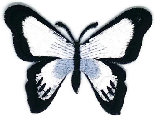 Schwarz Schmetterling Wild Life Cartoon Zeichen Hippie Retro Biker Jacket T-shirt Vest Patch Sew Iron on gesticktes Badge Custom