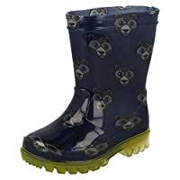 Clarks Boys Wellington Boots Shiny Roar