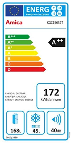 Amica KGC 15632T Kühlschrank/A++ / Kühlteil 168 L/Gefrierteil 45 L