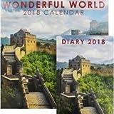 Telecharger Livres Nouveau Calendrier et Agenda Lot de Wonderful World 2018 CE Fera un excellent Cadeau de Noel (PDF,EPUB,MOBI) gratuits en Francaise