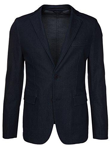 BOSS Sakko Ronas-W im Jeans Look 50326332 Herren, Dunkelblau, 52