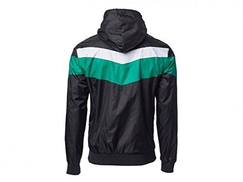 SV Werder Bremen Raute Windbreaker Regenjacke schwarz/grün/weiß