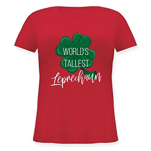 Shirtracer St. Patricks Day - Worlds Tallest Leprechaun - Lockeres Damen-Shirt in Großen Größen mit Rundhalsausschnitt Rot