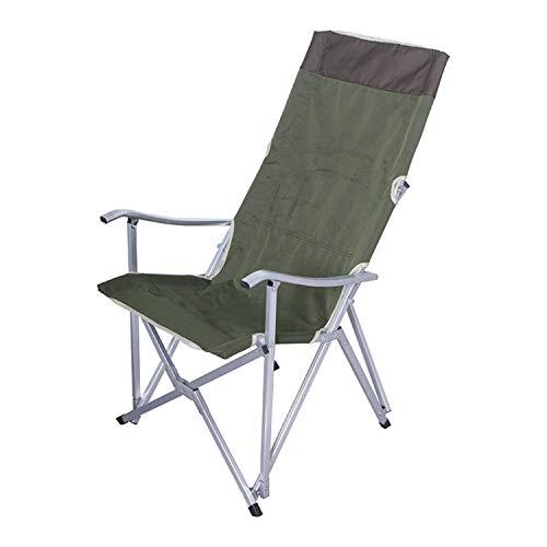 Okawa Campingstuhl mit Armlehne, groß, Aluminiumlegierung, tragbar