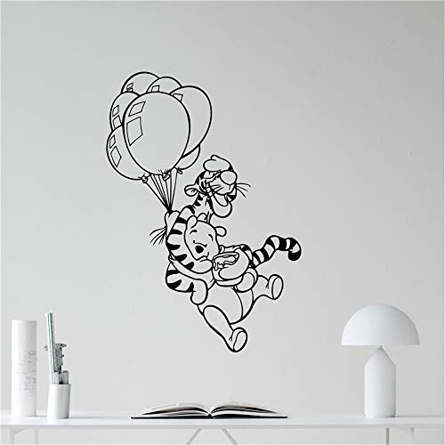 autocollant mural sticker mural Winnie The Pooh Winnie L'Ourson Sticker Autocollant Mural Applique Aller Vinyle Autocollant Pépinière Décoration de La Maison Stickers Muraux Dessin Animé Vinyle