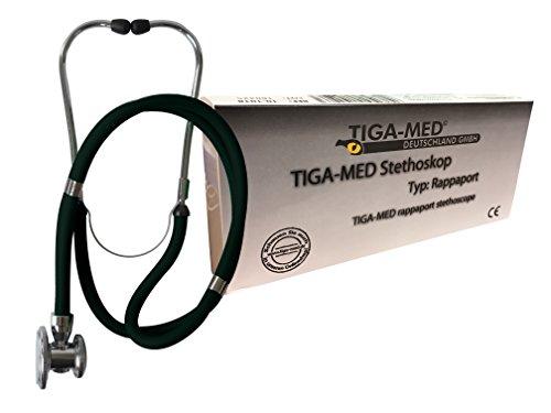 Rappaport-Estetoscopio Negro Profesional Doble Manguera 1pieza original de Tiga Med Calidad estetoscopio...
