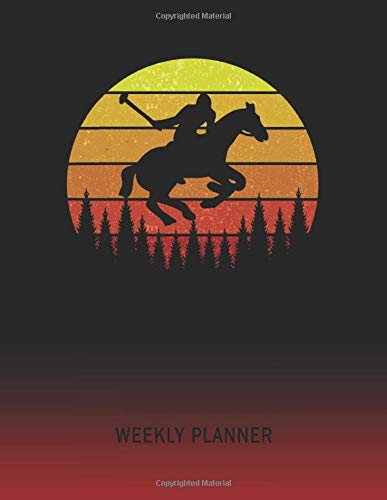 Weekly Planner: Horse Jumping Dressage Hurdle | 2020 - 2021 | Plan Weeks for 1 Year | Retro Vintage Sunset Cover | January 20 - December 20 | Planning ... | Plan Days, Set Goals & Get Stuff Done -