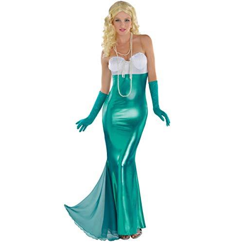 Ariel Kostüm Womens - Emmas Garderobe Mermaid Kostüm erwachsenes Abendkleid - Schönes Kostüm Halloween UK Größe 8-12 (Women: 36-38)