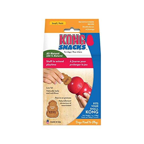 KONG - Snacks - Premi naturali per cani - Biscotti formaggio e bacon - Large (per KONG Classic)