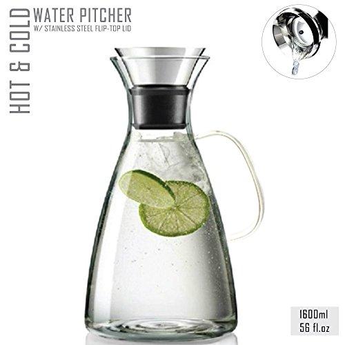 Tealyra® 56 Oz Glass Drip-free Carafe Pitcher - Jarra de Agua - w/ St