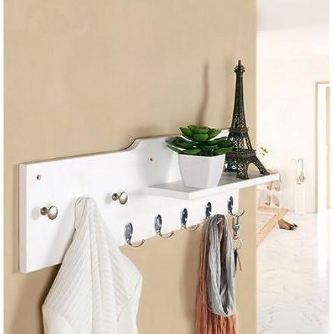 Appendiabiti parete creativa Monte, gancio appendiabiti a muro camera da letto,Bianco 8 gancio