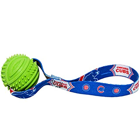 Hunter MLB Chicago Cubs Rubber Ball Toss Toy for Pets
