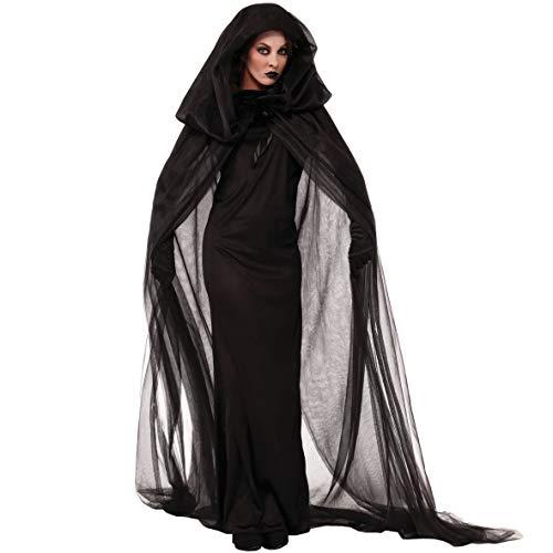 HYANF Halloween Gothic Vampire Kostüme, Cosplay Kostüme Scary Hexe Kleidung Frauen Mittelalter Maskerade Kostüm Ghost Fancy Maxi (Cocktail Fancy Dress Kostüm)
