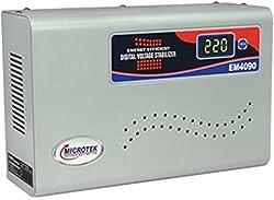 Microtek EM4090+ 90-300V Digital Voltage Stabilizer (Metallic Grey)