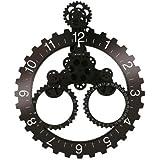 Ingranaggio di orologio con data in bianco e nero