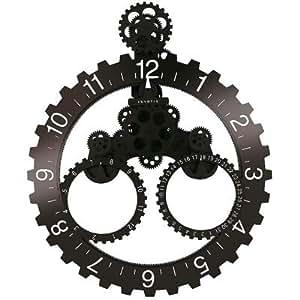 Invotis INIV117BW Horloge Mois/Année Grande Roue Noir/Blanc
