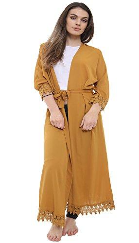 Malaika® Womens Batwing Lace Cardigan Floaty Cape Abaya Full Length Kaftan Ladies Cocktail Vintage Long Maxi Dress Casual Jacket Coat (UK 8-14)