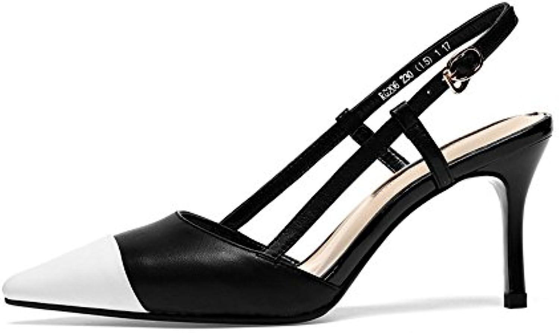 NHGY sandalen, innerhalb und außerhalb der dermis, hohle verschluss mit sharp hat haare, hochhackige sandalenö