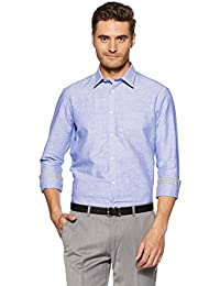 Knighthood by FBB Men's Solid Slim Fit Formal Shirt