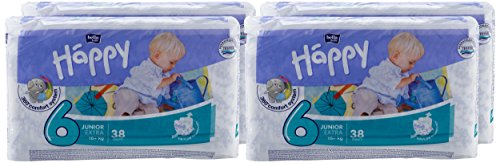 Bella Baby Happy Windeln Größe 6 Junior Extra 16+ kg Big Pack, 4er Pack (4 x 54 Windeln) - 2