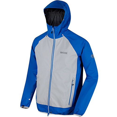 Regatta 2018 Mens Imber III Lightweight Waterproof Jacket Oxford Blue/Light Steel Small