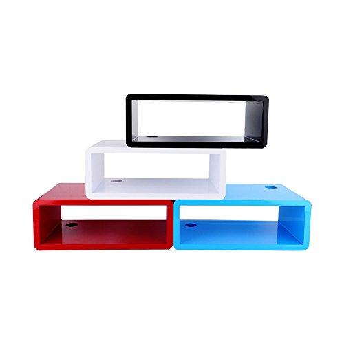 TougMoo 1pcs Floating Mfd Wandhalterung Regal Cube TV DVD Stereoanlage cd-regal Wandregal,Schwarz