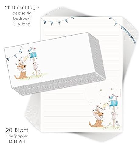 Papier A Lettre Correspondance - 'Kit papier à lettres pour enfants