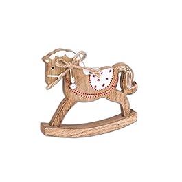 Generique – Mini Cavallo a Dondolo in Legno Taglia Unica