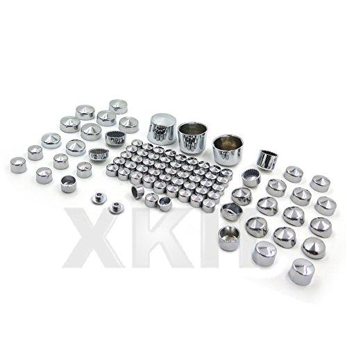 XKH Gruppe 87pc chrom Bolt Gap Kleid für 00-06Harley Softail Motor und diverse Mutter Cover (Motor Softail)