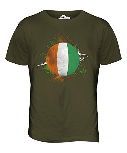 CandyMix Elfenbeinküste Fußball Herren T Shirt Khaki Grün
