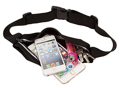 inShang Marsupio Sportivo Running belt/Sport Waist packs/Cintura da Corsa/Marsupio Con Cintura Riflettente/Running Sportivo Uomo Donna Impermeabile Regolabile per iPhone SE iPhone 6 / 6S iPhone 5 4 3  black