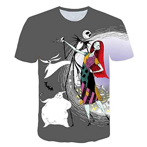 Sommert-shirtMännersommer-beiläufige Tarnungs-Druck-mit Kapuze ärmelloses T-Shirt Spitzenweste,Halloween Druckpuppe Grau L