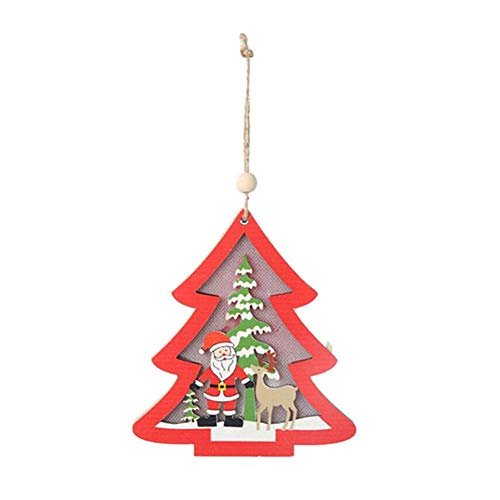 L//P 1 Weihnachtsdeko Dekoration Baumschmuck Weihnachtsmann Weiß Rot 18x13cm