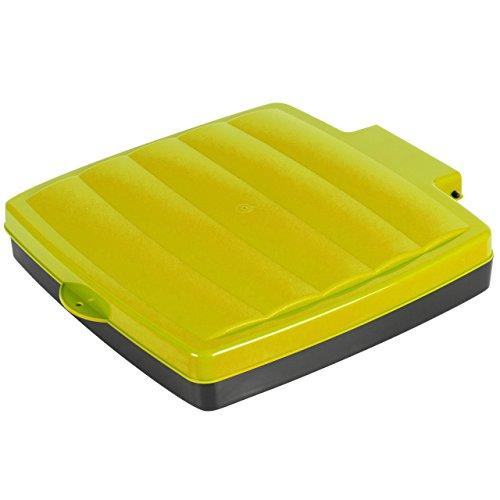 Grizzly M/üllsackst/änder bis 120L M/üllsackhalter in 3 H/öhen verstellbar Abfallsammler mit gelbem Deckel Gelber Sack St/änder mit Klemmring Made in Germany