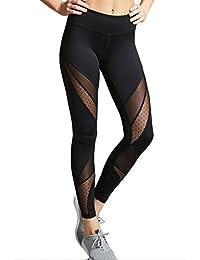 Mallas Deportes Cinco Estilos Mujer Leggings Yoga Pantalones de Alta Cintura Elásticos y Transpirables con Gran Elásticos G3632KG32GG27BGP190200820830