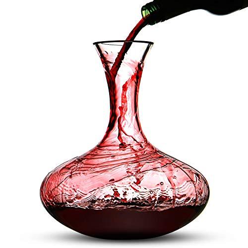 Maison & White Carafe à vin rouge de 2,5 L | Bouchon...