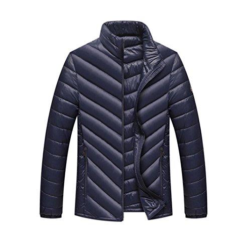 Malloom® Hommes Warm Stand Slim Zip d'hiver Manteau Outwear Veste