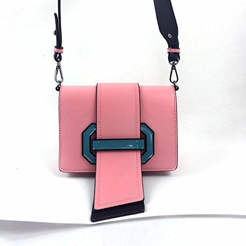 Kleine Tasche Weibliche Tasche Schlagfarbe Frau Schulter Kuriertasche Kleine Quadratische Tasche Rosa