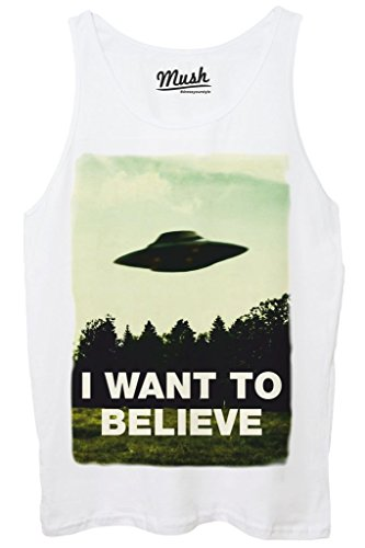 Canotta I WANT TO BELIEVE - X-FILES - FILM by Mush Dress Your Style Bianca