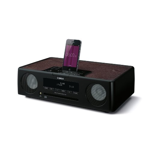 Yamaha TSX-132 Desktop Audio-System (CD-/MP3-Player, WMA, FM, USB) für Apple iPod/iPhone/iPad schwarz (Yamaha Ipod)