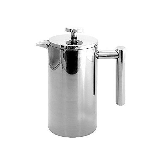 French Presse Kaffeemaschine, Edelstahl Kaffee & Tee Maker, Doppel-isolierte Kaffeekanne mit Filter, Kaffee-Tee-Wasserkocher, für Kaffeeliebhaber 0,35 l